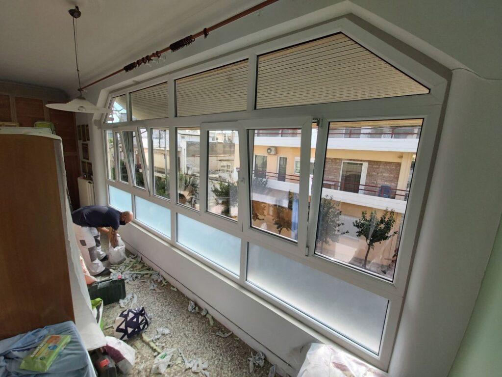 παράθυρα pvc κορυδαλλός τεχνοπαν