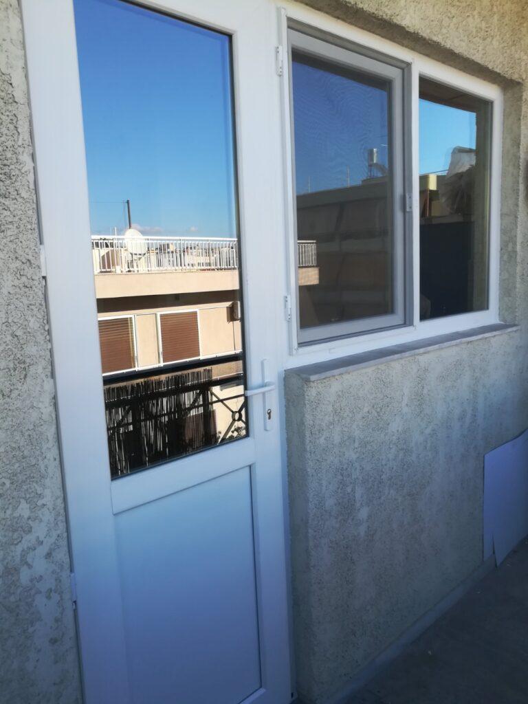 κουζινόπορτα pvc και παράθυρα pvc μοχάτο