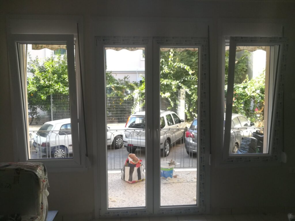pvc μπαλκονόπορτα και παράθυο pvc τεχνοπαν